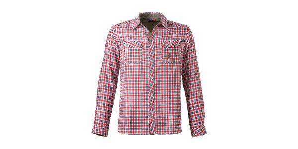 Pánska červeno kockovaná košeľa s náprsnými vreckami Maier