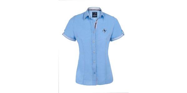 Dámska svetlo modrá košeľa s krátkym rukávom Giorgio di Mare