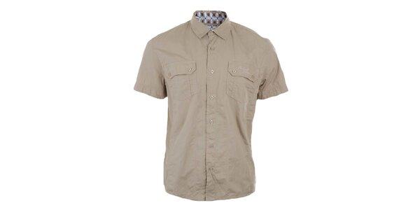 Pánska prírodná košeľa s krátkym rukávom Timeout