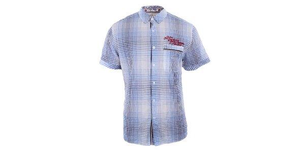 Pánska modrobiela vintage košeľa Timeout