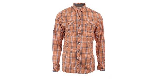 Pánska oranžovo kockovaná košeľa Timeout