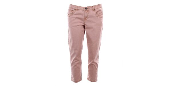Dámske ružové capri džínsy Timeout