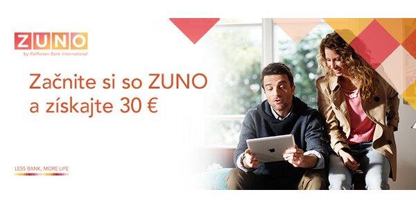 Poďte do ZUNO a získajte až 30 €