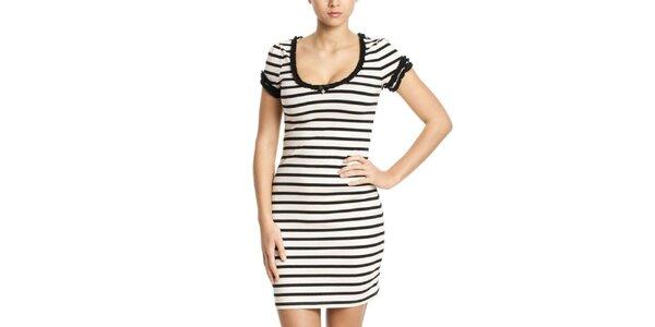 Dámske čierno-biele pruhované šaty Vive Maria
