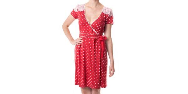Dámske červené bodkované šaty Vive Maria
