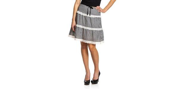 Dámska károvaná sukňa s čipkou Vive Maria