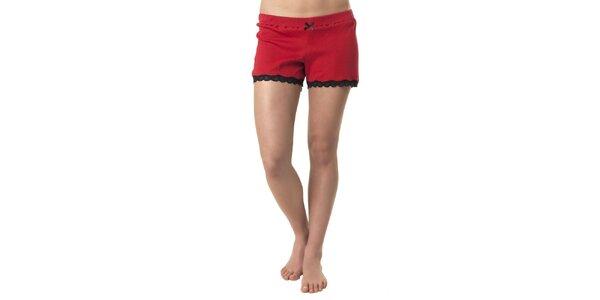Dámske červené šortky na spanie Vive Maria