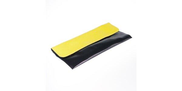 Dámska čierna listová kabelka so žltou klopou Belle & Bloom