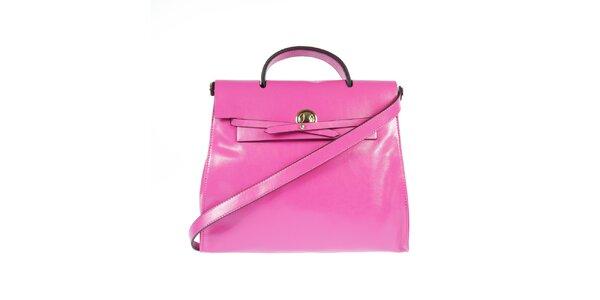 Dámska ružová kožená kabelka Belle & Bloom