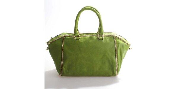 Dámska hráškovo zelená kabelka Belle&Bloom