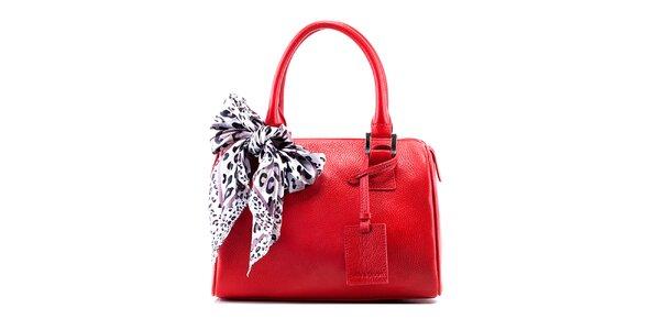Dámska červená kožená kabelka Belle & Bloom