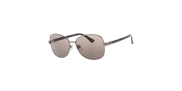 Dámske kovové oválne slnečné okuliare v striebornom prevedení Michael Kors