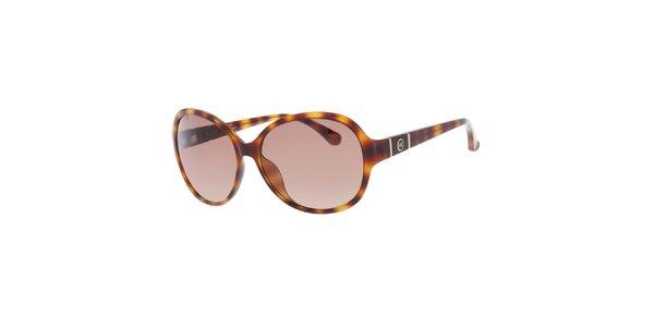 Dámske žíhané oválne slnečné okuliare Michael Kors