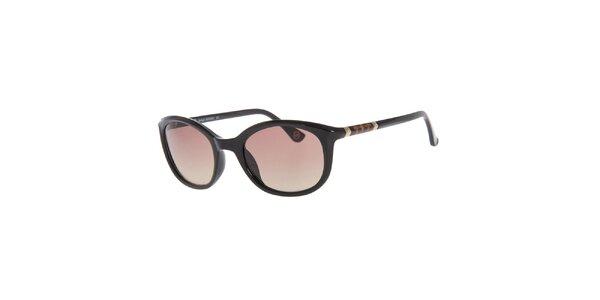 Dámske čierne slnečné okuliare Michael Kors s ozdobnou stranicou