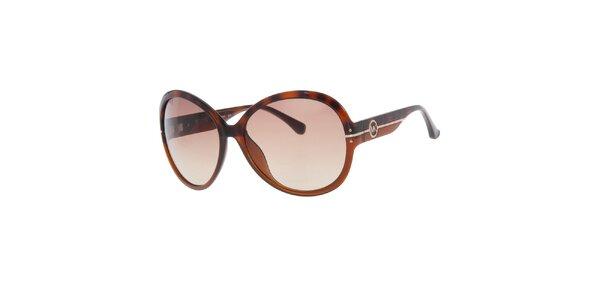 Dámske hnedo-žíhané slnečné okuliare Michael Kors
