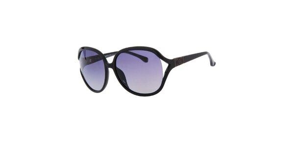 Dámske čierne oválne slnečné okuliare Michael Kors