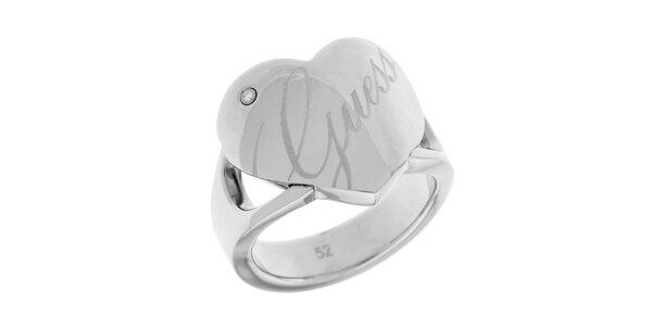 Dámsky prsteň so srdiečkom Guess