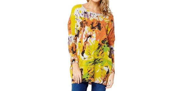 Dámsky sveter s farebným levom Miss Jolie