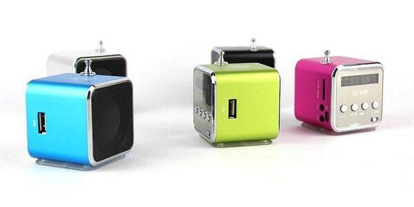 Mini prenosný USB reproduktor so vstavaným FM