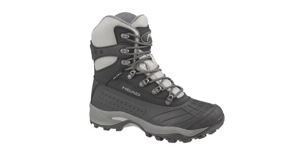 Pánske čierno-šedé vysoké zimné trekingové boty Head s membránou 574a6b5ce39