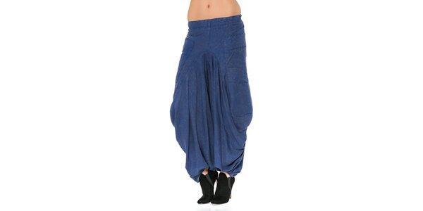 Dámske modré harémové nohavice Mahal