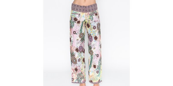 Dámske farebne potlačené nohavice Mahal