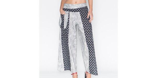 Dámske široké nohavice s potlačou Mahal