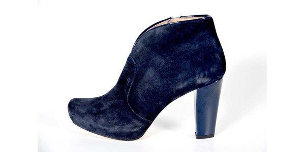 Dámske indigovo modré kotníkové topánky Bluegenex