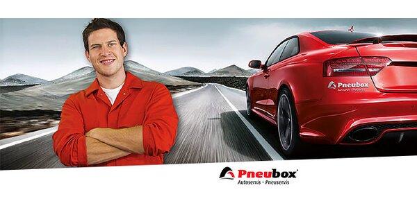 Kontrola vozidla v sieti Pneubox