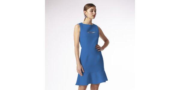Dámske syto modré šaty Emploi