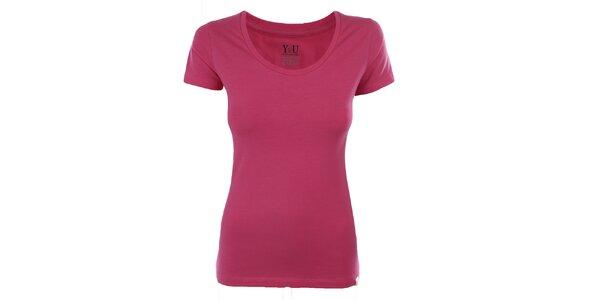 Dámske ružové tričko s krátkym rukávom YU Feelwear