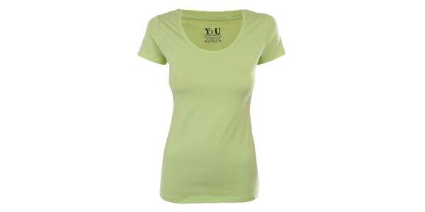 Dámske limetkové tričko s krátkym rukávom YU Feelwear