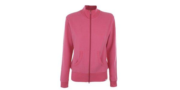 Dámska ružová mikina na zips YU Feelwear