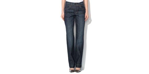 Dámske modré džínsy s ozdobným logom Roccobarocco