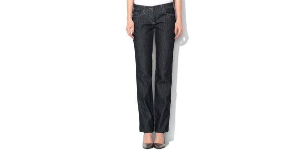 Dámske antracitové džínsy s ozdobným logom Roccobarocco