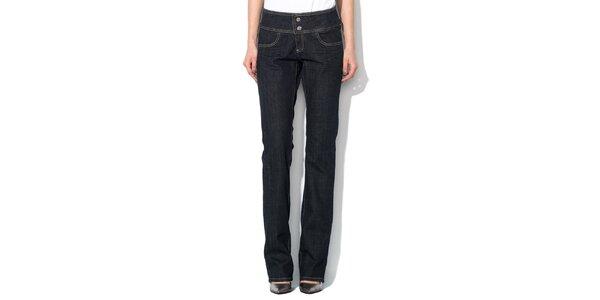 Dámske tmavo modré džínsy so širším pásom Roccobarocco