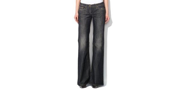 Dámske antracitové džínsy do zvonu Roccobarocco