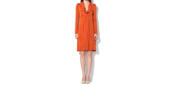 Dámske tmavo oranžové šaty Roccobarocco