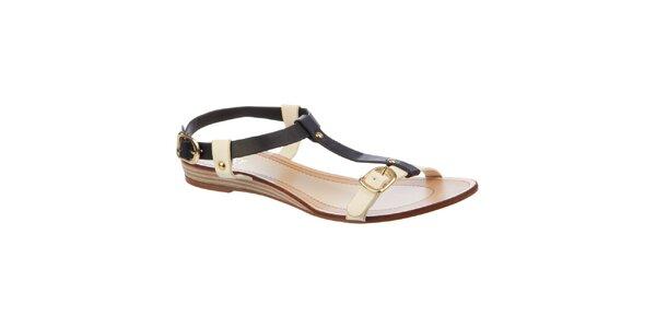 Dámske čierno-krémové sandálky Betsy