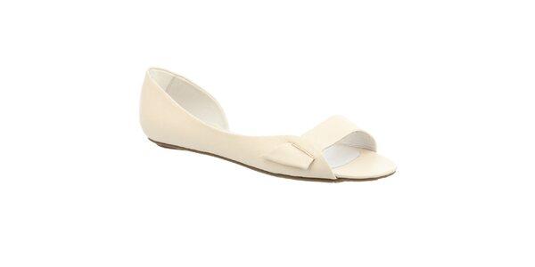 Dámske krémovo biele sandálky s otvorenou špičkou Keddo
