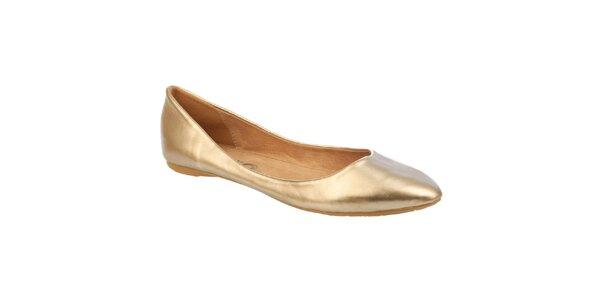 Dámske zlaté balerínky Betsy