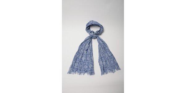 Dámska modro vzorovaná šatka Wanda