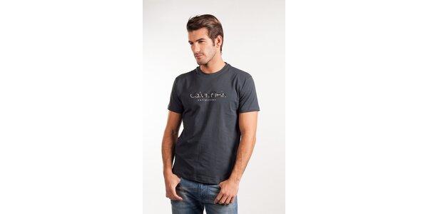 Pánske tmavo šedé tričko Calvin Klein
