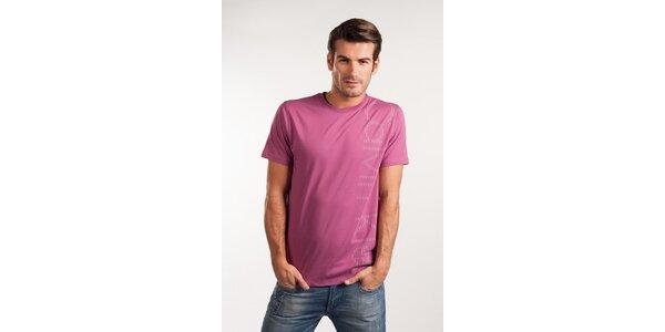Pánske ružové tričko Calvin Klein