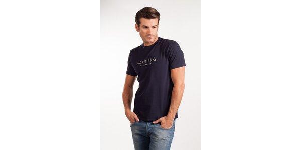 Pánske tmavo modré tričko Calvin Klein