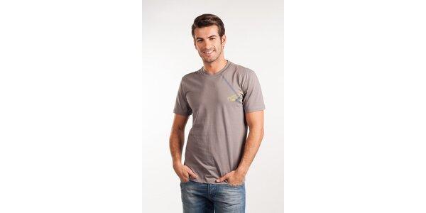 Pánske svetlo šedé tričko Calvin Klein