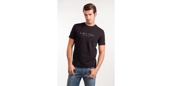 Pánske čierne tričko Calvin Klein
