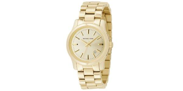 Dámske pozlátené hodinky v jednoduchom designe Michael Kors