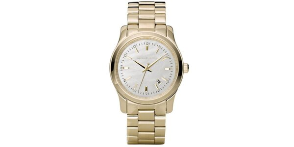 Dámske pozlátené hodinky s dátumovkou Michael Kors
