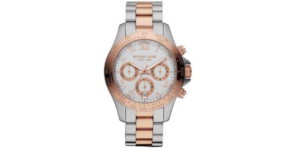 Dámske hodinky z dvojfarebnej ušľachtilej ocele s chronografom Michael Kors